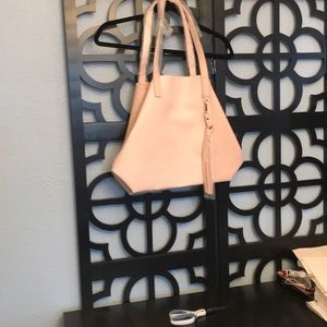 Brand new leather purse, blush pink